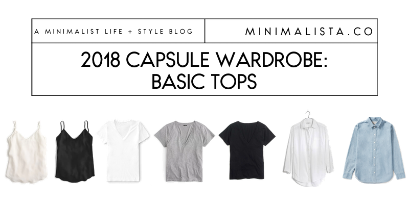 capsule wardrobe basic tops