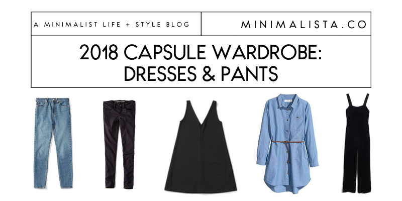 capsule wardrobe dresses and bottoms