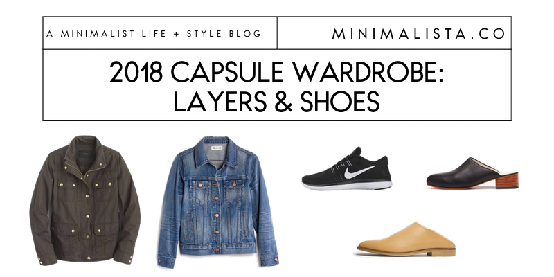 capsule wardrobe basic layers and shoes