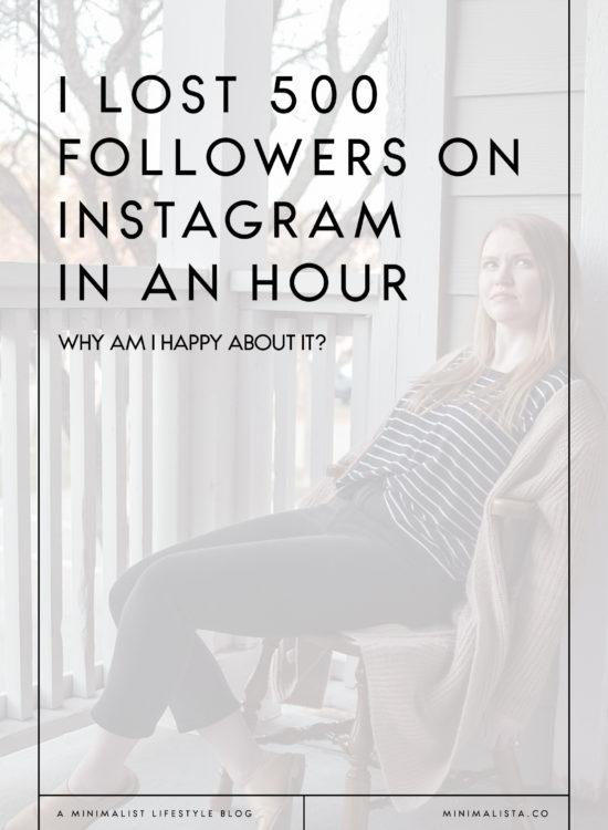 i lost 500 followers on instagram